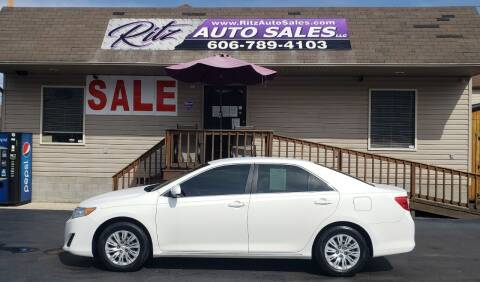2012 Toyota Camry for sale at Ritz Auto Sales, LLC in Paintsville KY