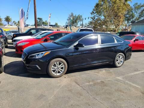 2017 Hyundai Sonata for sale at E and M Auto Sales in Bloomington CA
