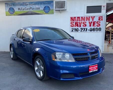 2013 Dodge Avenger for sale at Manny G Motors in San Antonio TX