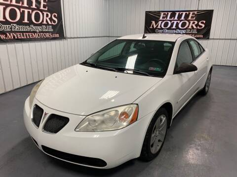 2009 Pontiac G6 for sale at Elite Motors in Uniontown PA