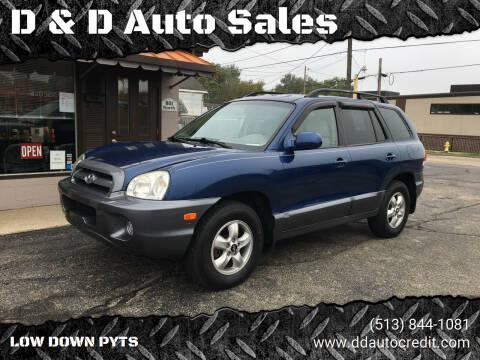 2006 Hyundai Santa Fe for sale at D & D Auto Sales in Hamilton OH