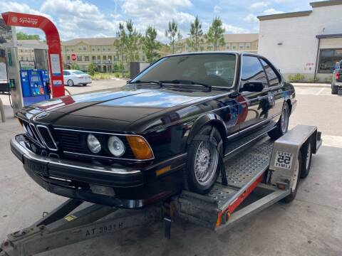 1988 BMW 6 Series for sale at American Classics Autotrader LLC in Pompano Beach FL