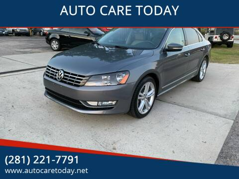 2013 Volkswagen Passat for sale at AUTO CARE TODAY in Spring TX