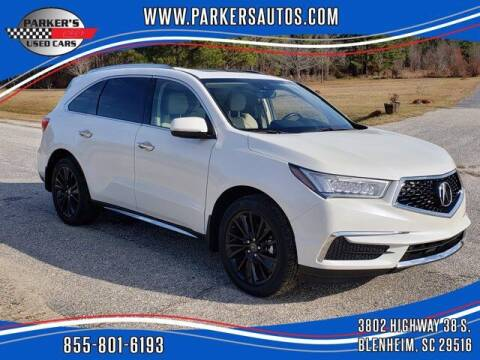 2017 Acura MDX for sale at Parker's Used Cars in Blenheim SC