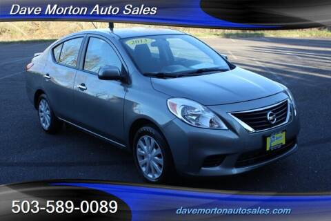 2013 Nissan Versa for sale at Dave Morton Auto Sales in Salem OR