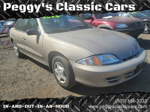 2002 Chevrolet Cavalier for sale at Peggy's Classic Cars in Oregon City OR