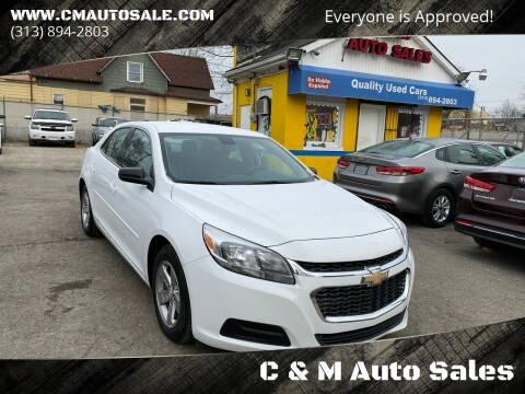 2014 Chevrolet Malibu for sale at C & M Auto Sales in Detroit MI