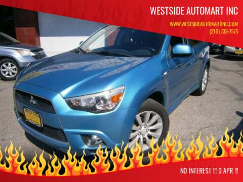 2011 Mitsubishi Outlander Sport for sale at WESTSIDE AUTOMART INC in Cleveland OH