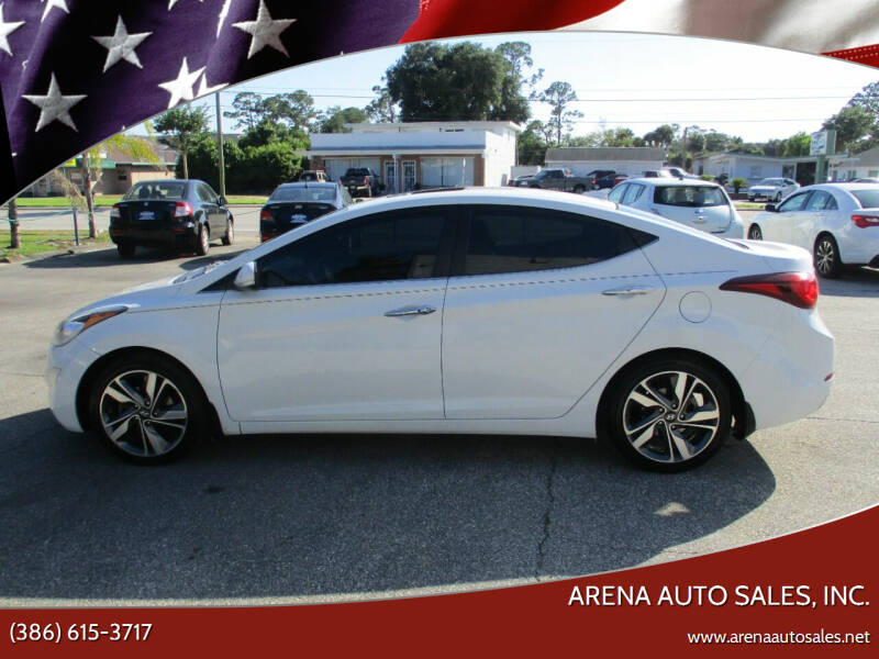 2015 Hyundai Elantra for sale at ARENA AUTO SALES,  INC. in Holly Hill FL