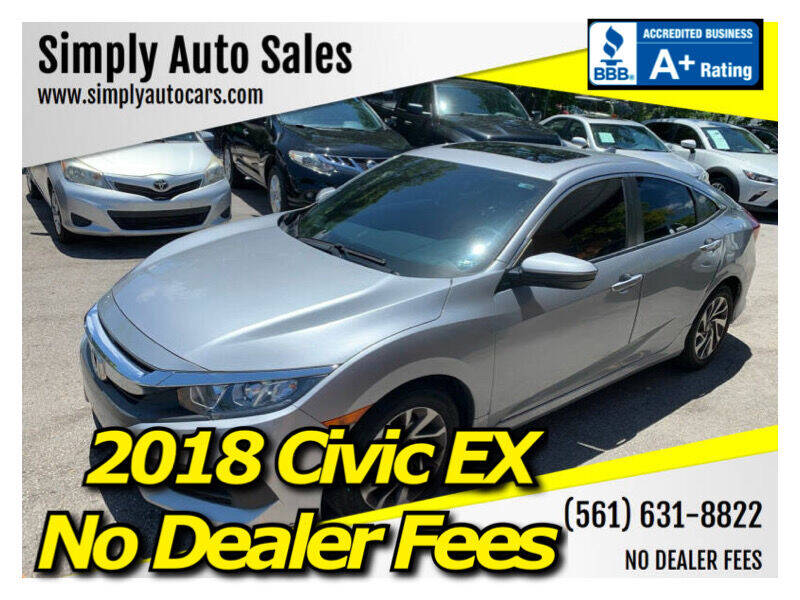 2018 Honda Civic for sale at Simply Auto Sales in Palm Beach Gardens FL