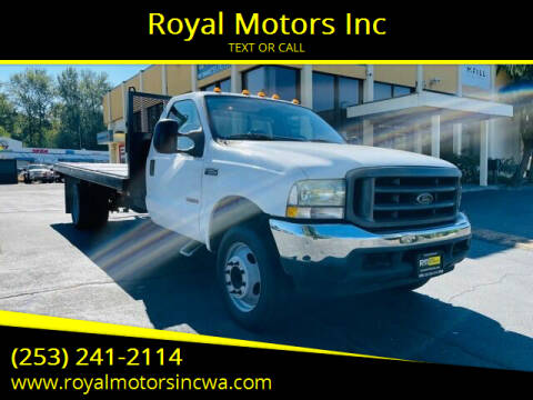 2004 Ford F-550 Super Duty for sale at Royal Motors Inc in Kent WA