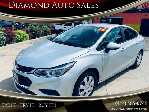 2016 Chevrolet Cruze for sale at Diamond Auto Sales in Milwaukee WI