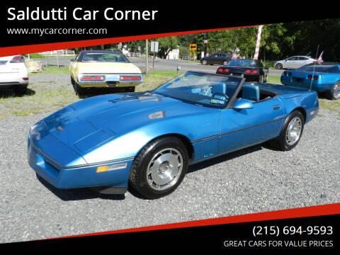 1987 Chevrolet Corvette for sale at Saldutti Car Corner in Gilbertsville PA