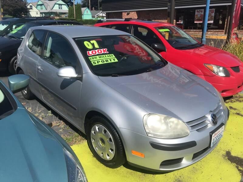 2007 Volkswagen Rabbit for sale at American Dream Motors in Everett WA