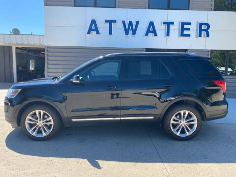 2018 Ford Explorer for sale at Atwater Ford Inc in Atwater MN