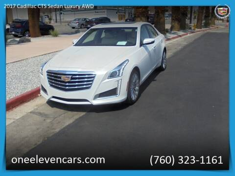 2017 Cadillac CTS for sale at One Eleven Vintage Cars in Palm Springs CA