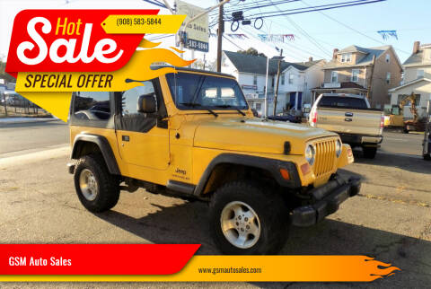 2004 Jeep Wrangler for sale at GSM Auto Sales in Linden NJ
