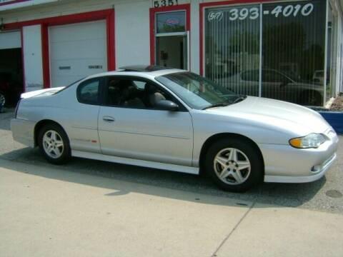 2003 Chevrolet Monte Carlo for sale at Cedar Auto Sales in Lansing MI