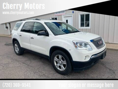 2012 GMC Acadia for sale at Cherry Motors in Castle Rock CO