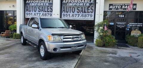 2004 Toyota Tundra for sale at Affordable Imports Auto Sales in Murrieta CA