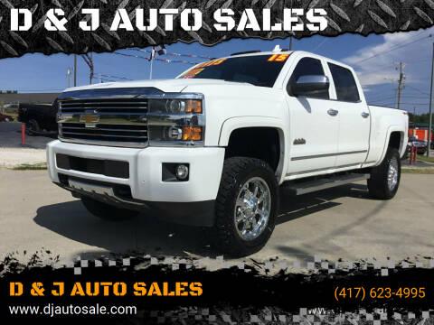 2015 Chevrolet Silverado 2500HD for sale at D & J AUTO SALES in Joplin MO
