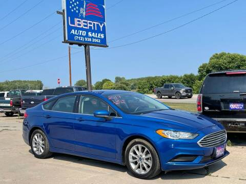 2017 Ford Fusion for sale at Liberty Auto Sales in Merrill IA