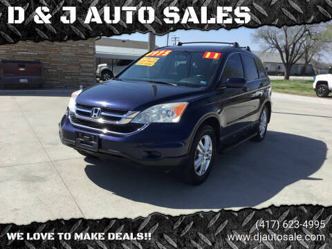 2011 Honda CR-V for sale at D & J AUTO SALES in Joplin MO