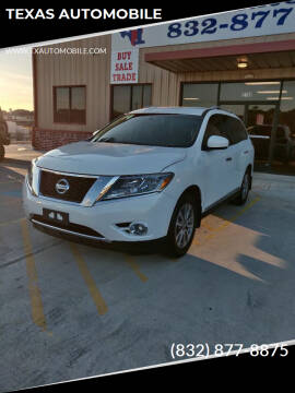 2014 Nissan Pathfinder for sale at TEXAS AUTOMOBILE in Houston TX