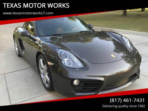 2014 Porsche Cayman for sale at TEXAS MOTOR WORKS in Arlington TX