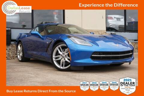 2016 Chevrolet Corvette for sale at Dallas Auto Finance in Dallas TX