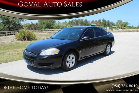 2008 Chevrolet Impala for sale at Goval Auto Sales in Pompano Beach FL