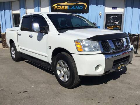2004 Nissan Titan for sale at Freeland LLC in Waukesha WI