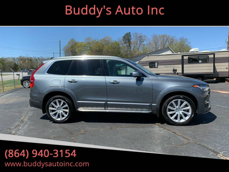2016 Volvo XC90 for sale at Buddy's Auto Inc in Pendleton SC