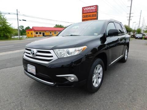 2012 Toyota Highlander for sale at Cars 4 Less in Manassas VA