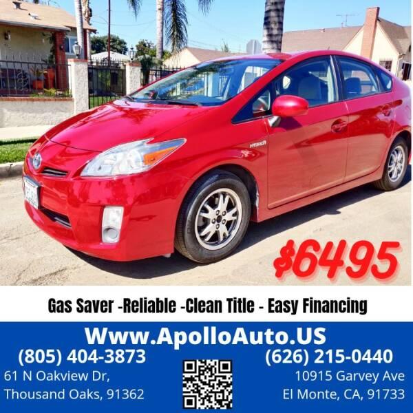 2010 Toyota Prius for sale at Apollo Auto El Monte in El Monte CA