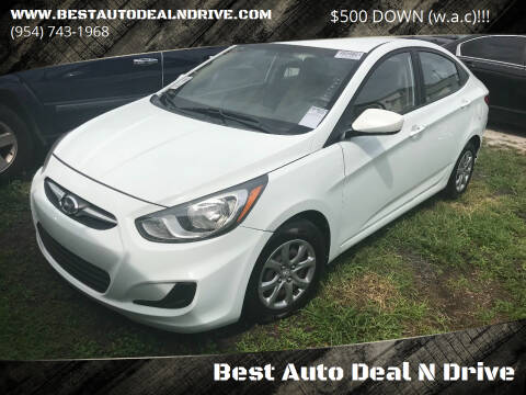 2013 Hyundai Accent for sale at Best Auto Deal N Drive in Hollywood FL