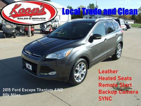 2015 Ford Escape for sale at Koop's Sales and Service in Vinton IA