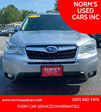 2015 Subaru Forester for sale at NORM'S USED CARS INC in Wiscasset ME