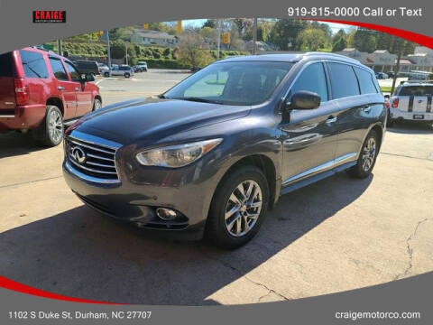 2014 Infiniti QX60 for sale at CRAIGE MOTOR CO in Durham NC