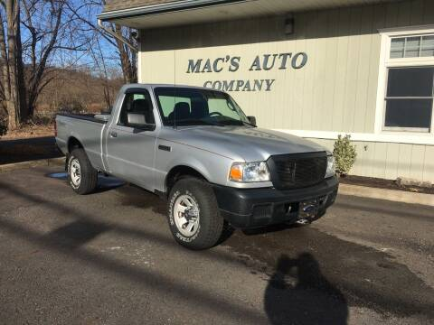 2007 Ford Ranger for sale at MAC'S AUTO COMPANY in Nanticoke PA