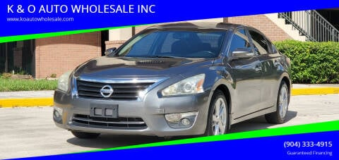 2014 Nissan Altima for sale at K & O AUTO WHOLESALE INC in Jacksonville FL