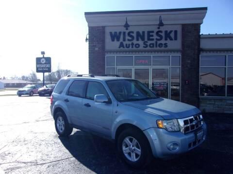 2008 Ford Escape Hybrid for sale at Wisneski Auto Sales, Inc. in Green Bay WI