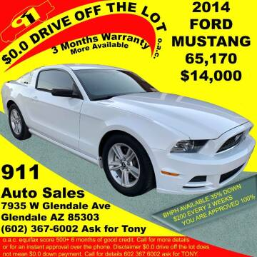 2014 Ford Mustang for sale at 911 AUTO SALES LLC in Glendale AZ