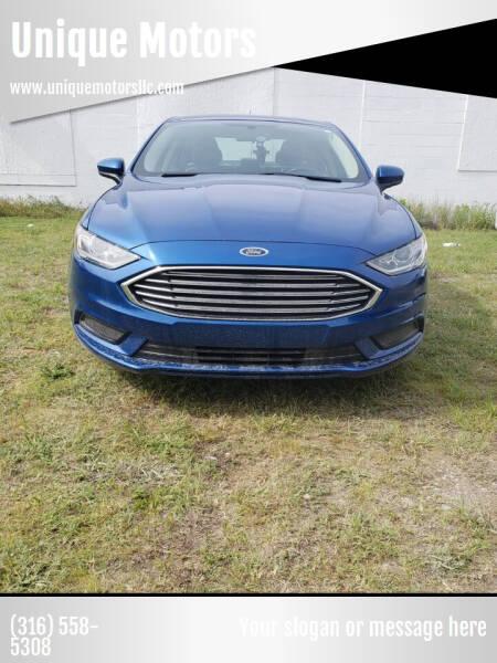 2018 Ford Fusion for sale at Unique Motors in Wichita KS
