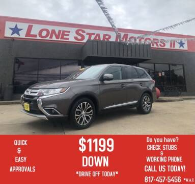 2016 Mitsubishi Outlander for sale at LONE STAR MOTORS II in Fort Worth TX