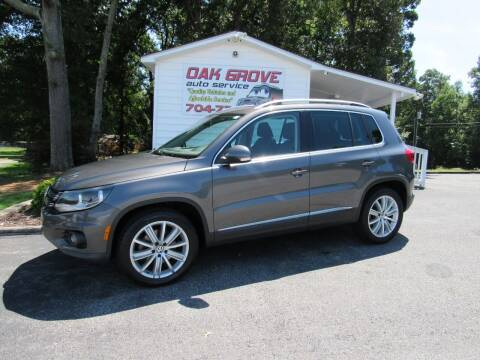 2015 Volkswagen Tiguan for sale at Oak Grove Auto Sales in Kings Mountain NC