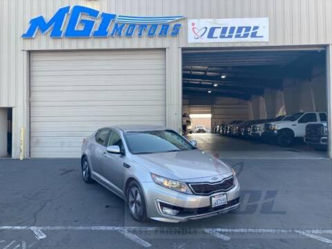 2012 Kia Optima Hybrid for sale at MGI Motors in Sacramento CA