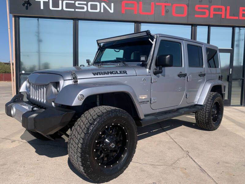 2014 Jeep Wrangler Unlimited for sale at Tucson Auto Sales in Tucson AZ