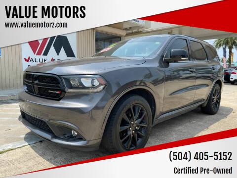 2018 Dodge Durango for sale at VALUE MOTORS in Kenner LA