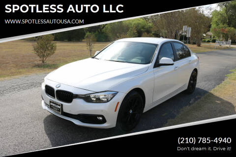 2016 BMW 3 Series for sale at SPOTLESS AUTO LLC in San Antonio TX